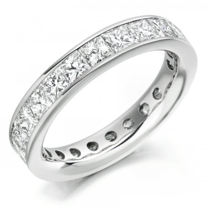 The Raphael Collection Platinum 1.00ct princess cut diamond full eternity ring.