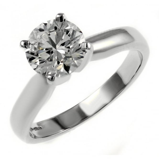 Platinum 1.21ct E SI1 EGL round brilliant diamond solitaire ring
