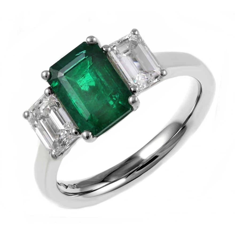 jewelry product emerald ring halo diamond designs cut