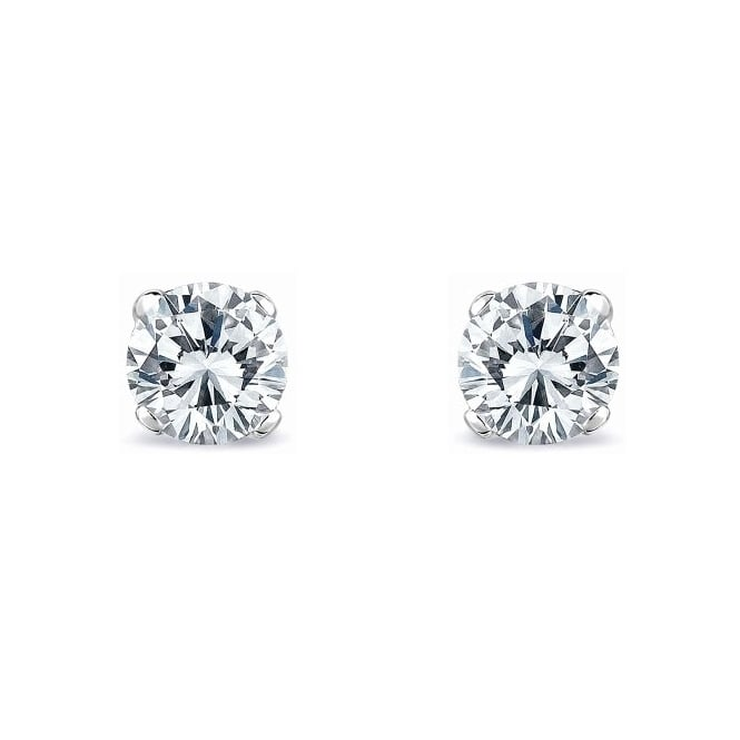 Platinum 1.44ct D SI1 EGL round brilliant diamond stud earrings