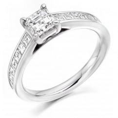 Platinum 1.44ct G VVS2 IGI asscher cut diamond solitaire ring.