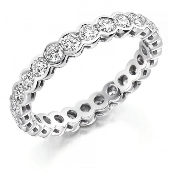 The Raphael Collection Platinum 1.50ct round brilliant cut diamond full eternity ring.