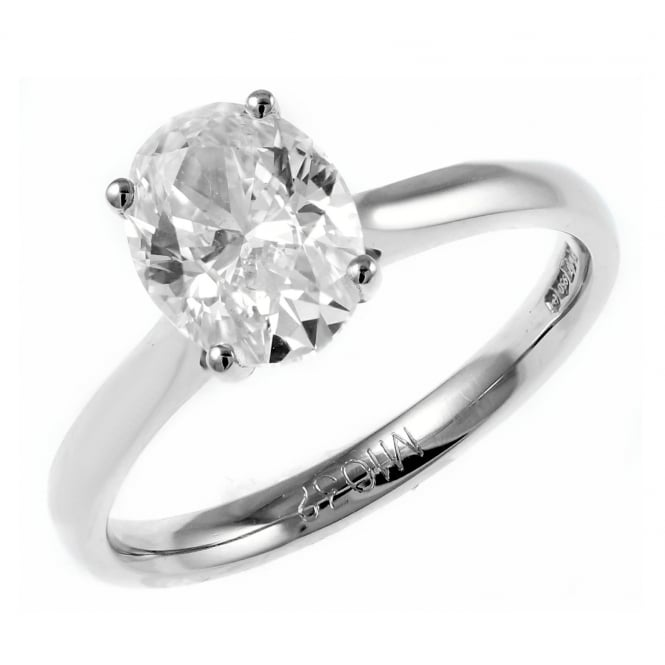 Platinum 1.51ct D VS1 EGL oval cut diamond ring.