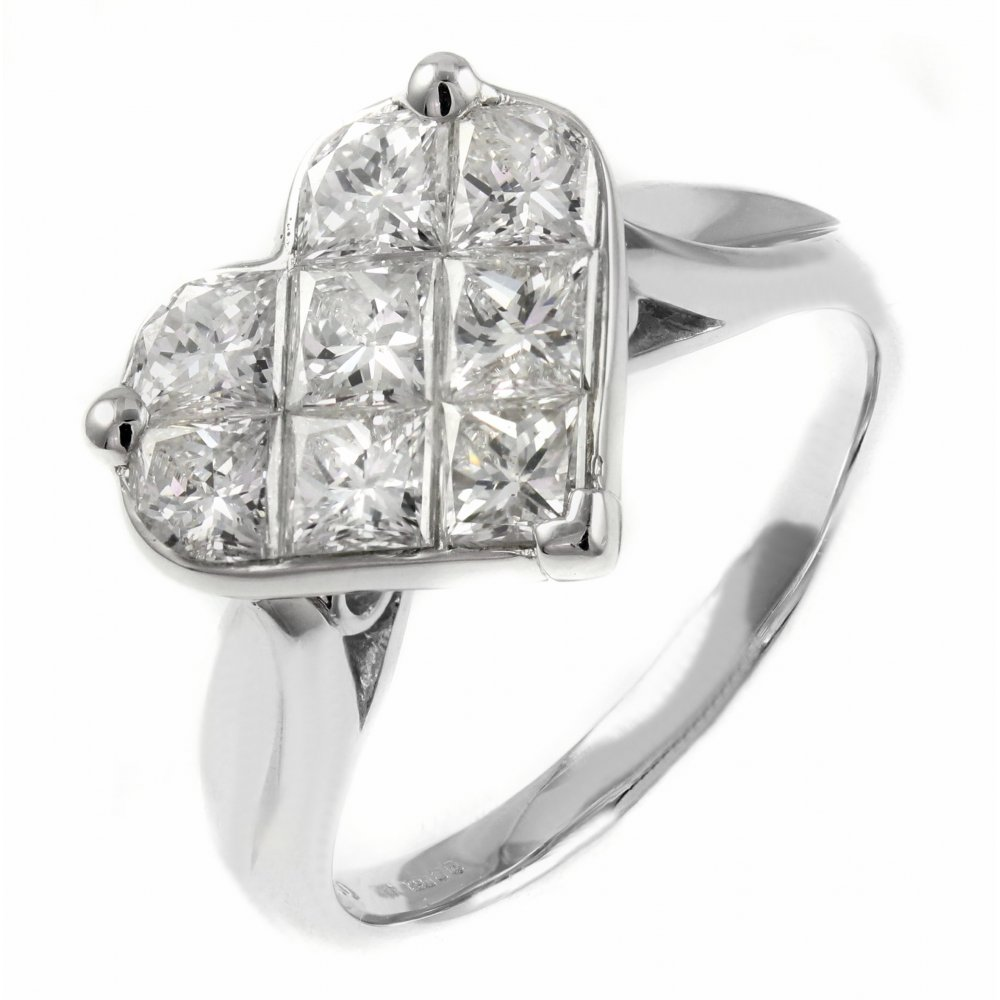 style diamond white i ring other cut set invisible gold halo emerald