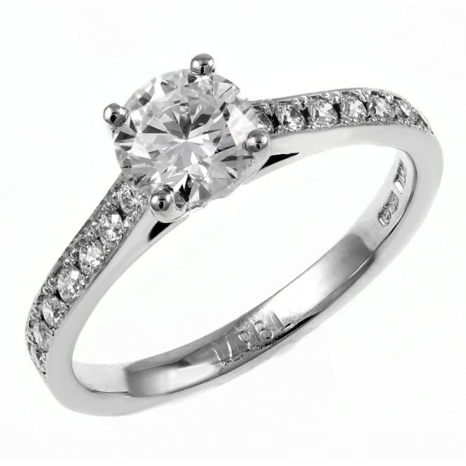Platinum 1.65ct D SI3 EGL round brilliant cut diamond ring.