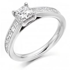 Platinum 1.77ct G VVS1 GIA asscher cut diamond solitaire ring.