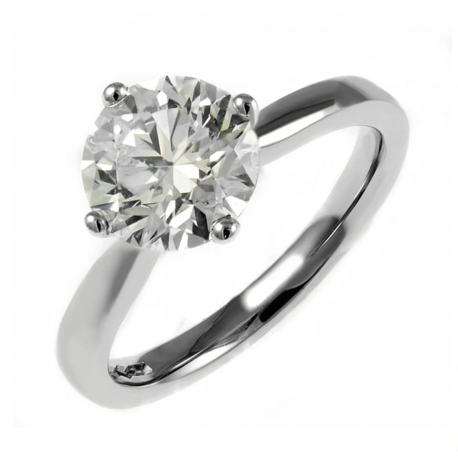 Platinum 1.89ct D SI1 EGL round brilliant cut diamond ring.