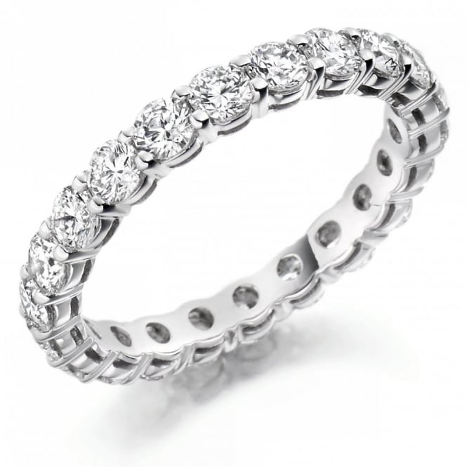 The Raphael Collection Platinum 2.00ct round brilliant cut diamond full eternity ring.