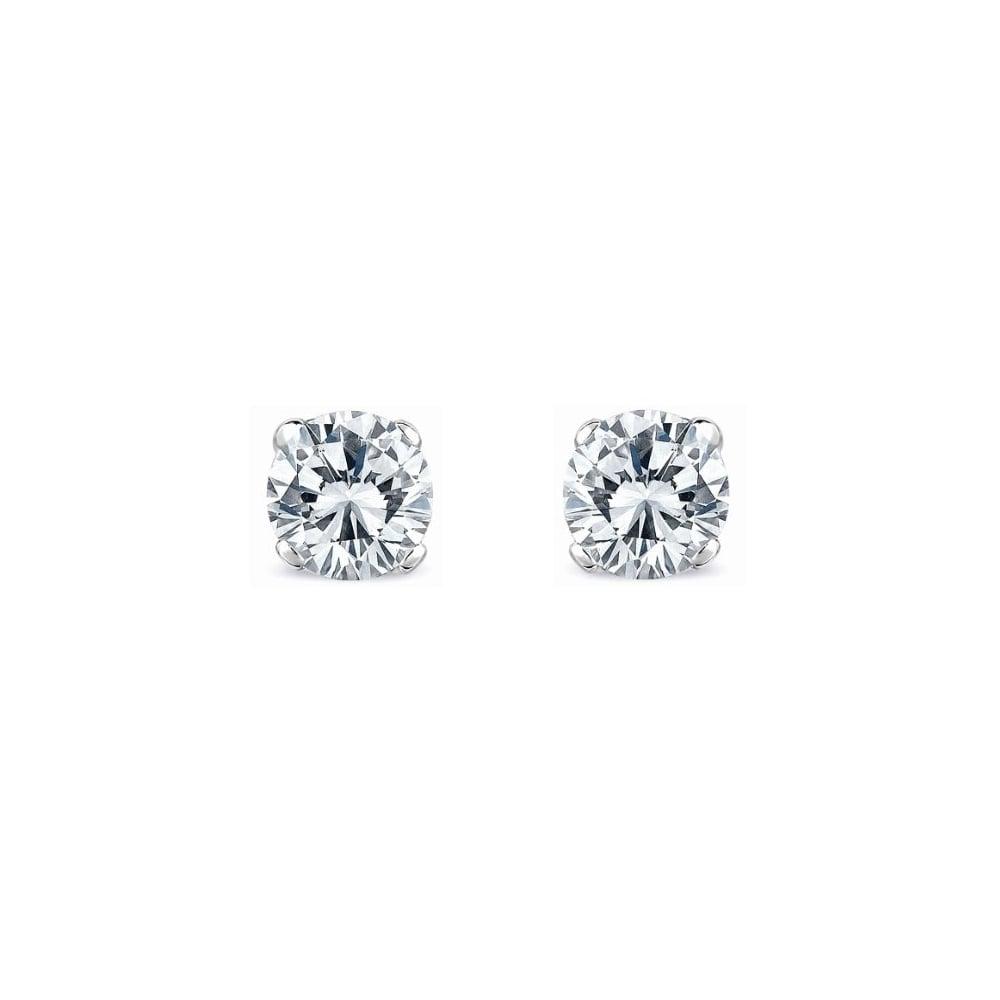 Platinum 2 03ct D Si1 Egl Round Brilliant Diamond Stud Earrings