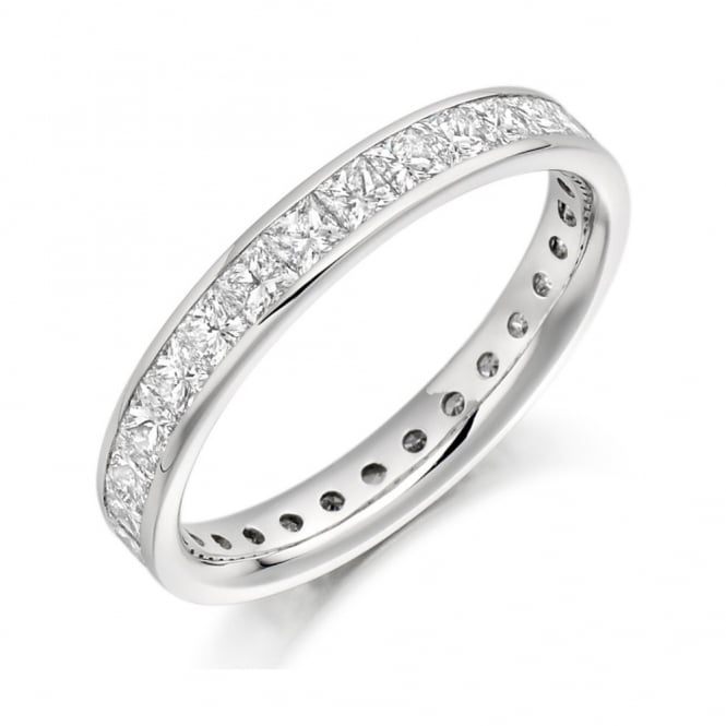 The Raphael Collection Platinum 2.05ct princess cut diamond full eternity ring.