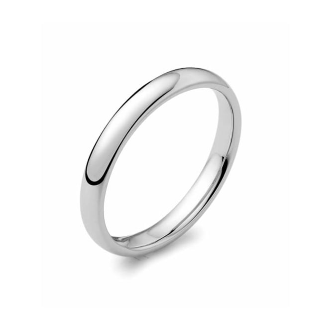 Brown & Newirth Platinum 2.50mm medium court wedding band.