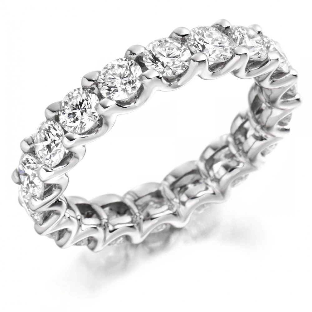 Platinum 3 00ct Round Brilliant Cut Diamond Full Eternity Ring