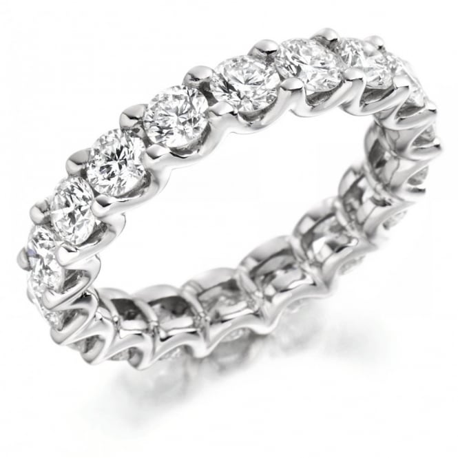 The Raphael Collection Platinum 3.00ct round brilliant cut diamond full eternity ring.