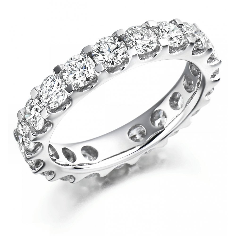 platinum ring eternity image round collection full diamond wedding the raphael half brilliant cut
