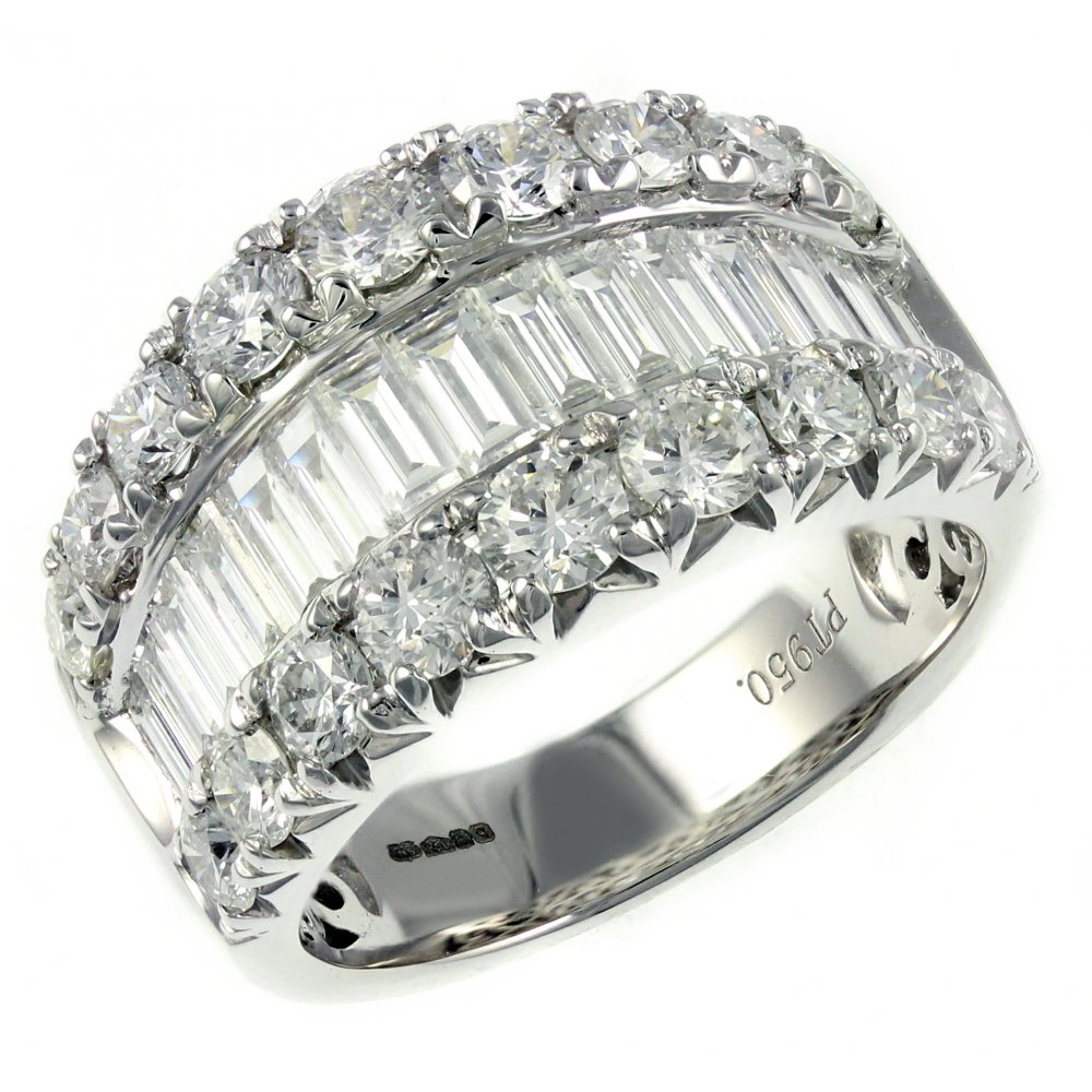 bands with diamonds baguette round and diamond platinum p band wh eternity