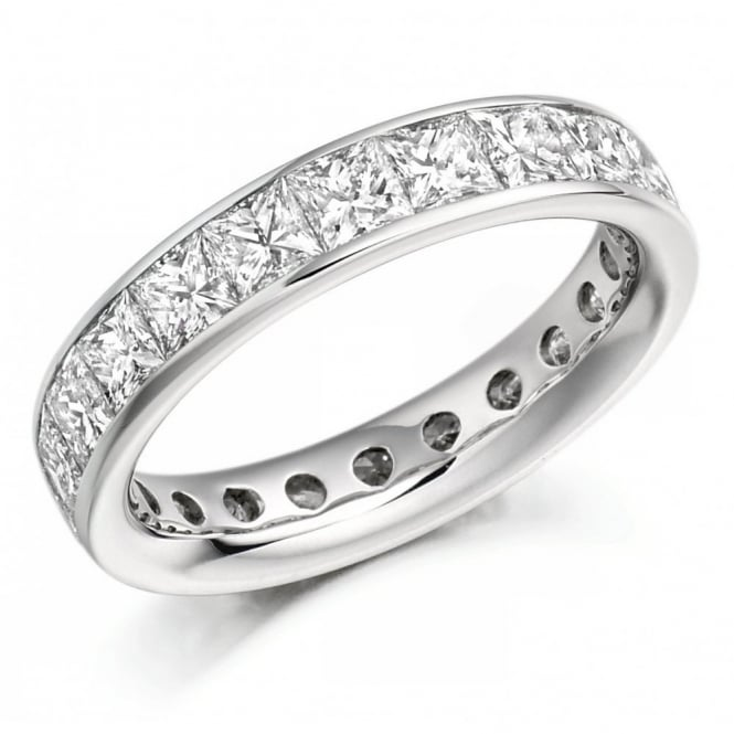 The Raphael Collection Platinum 3.30ct princess cut diamond full eternity ring.