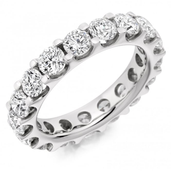 The Raphael Collection Platinum 4.00ct round brilliant cut diamond full eternity ring.