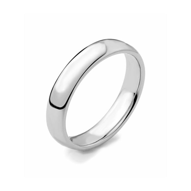 Brown & Newirth Platinum 4.00mm medium court wedding band.