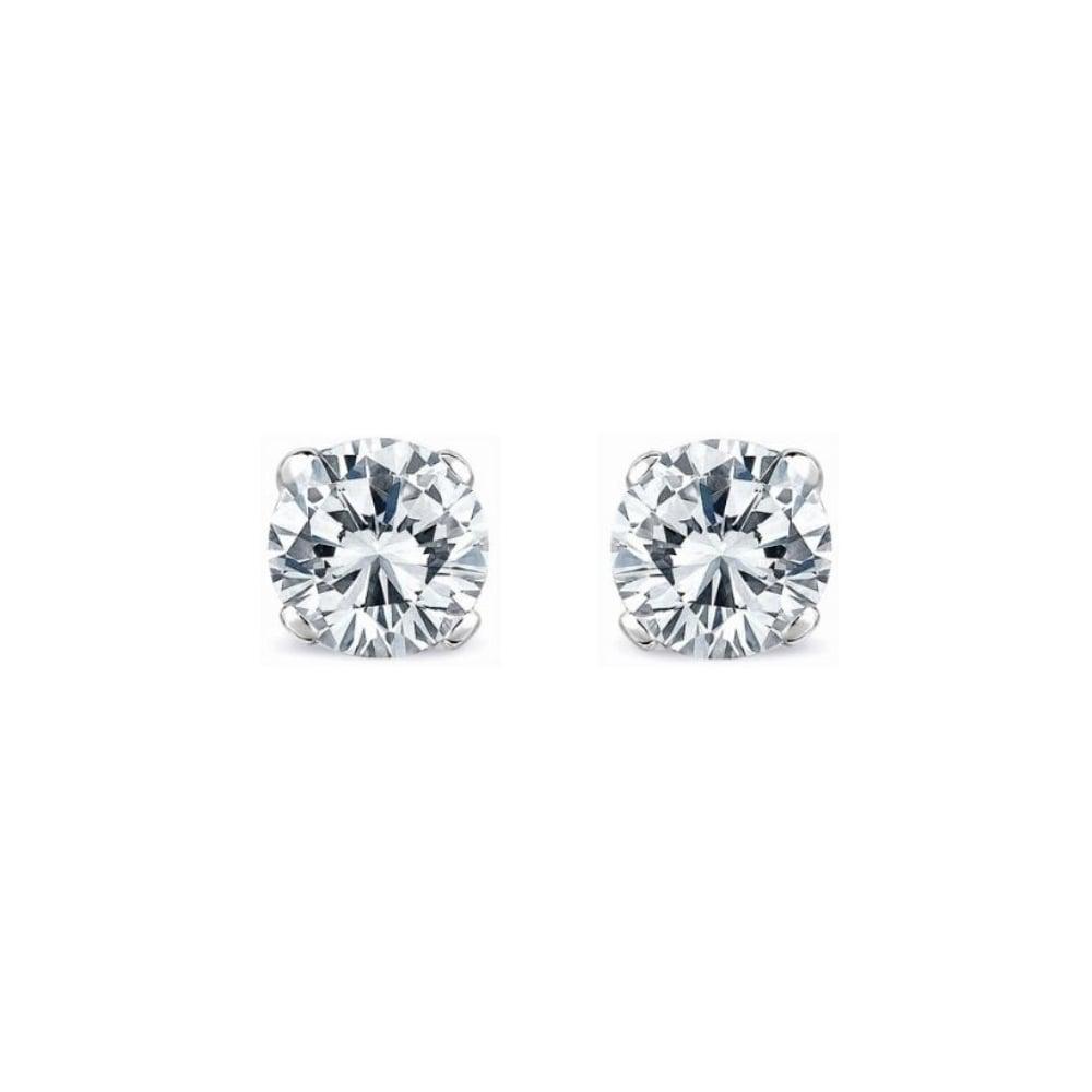 Platinum 4 03ct D Si1 Egl Round Brilliant Diamond Stud Earrings