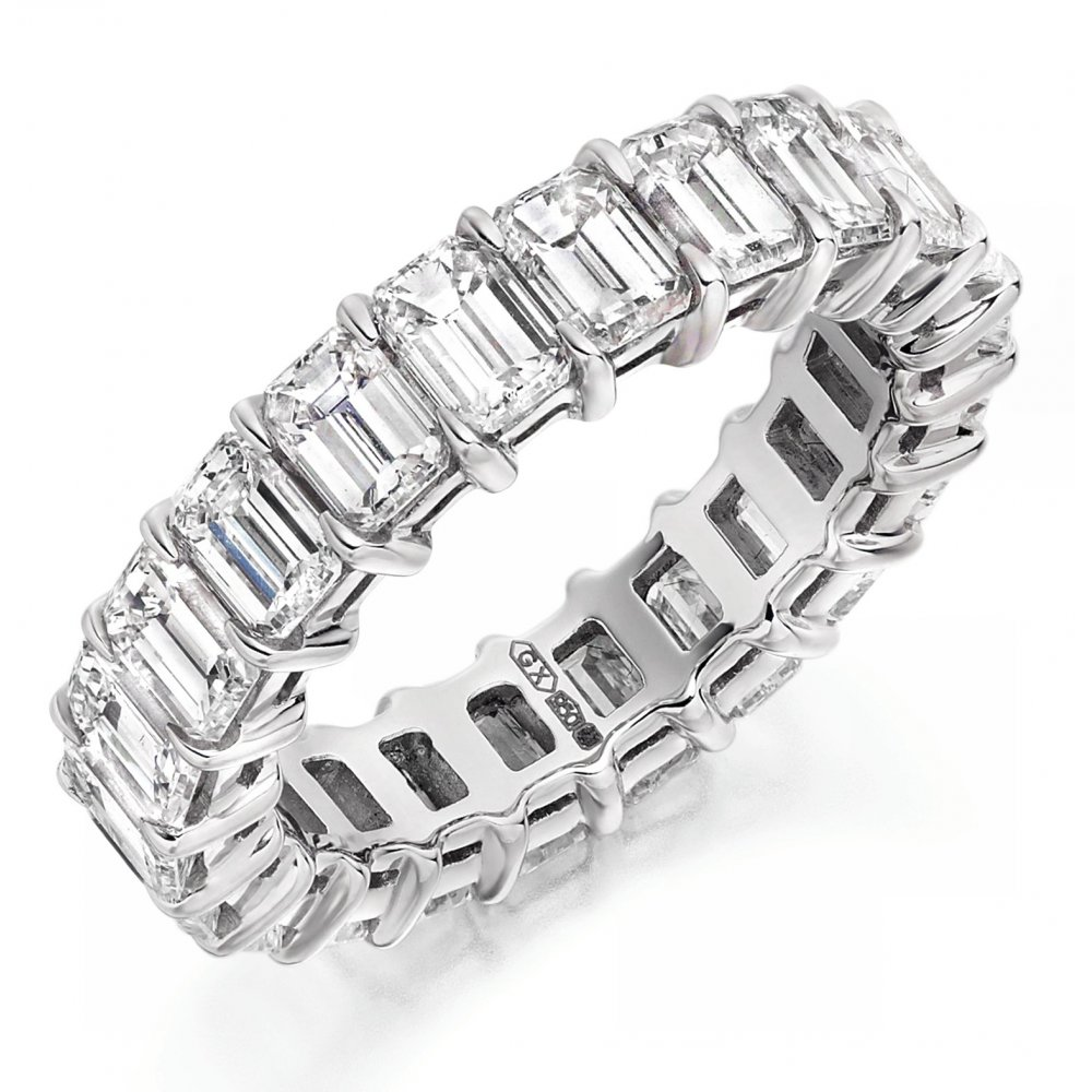 image stone band platinum baguette berrys diamond half bands ring berry set jewellery eternity s cut five